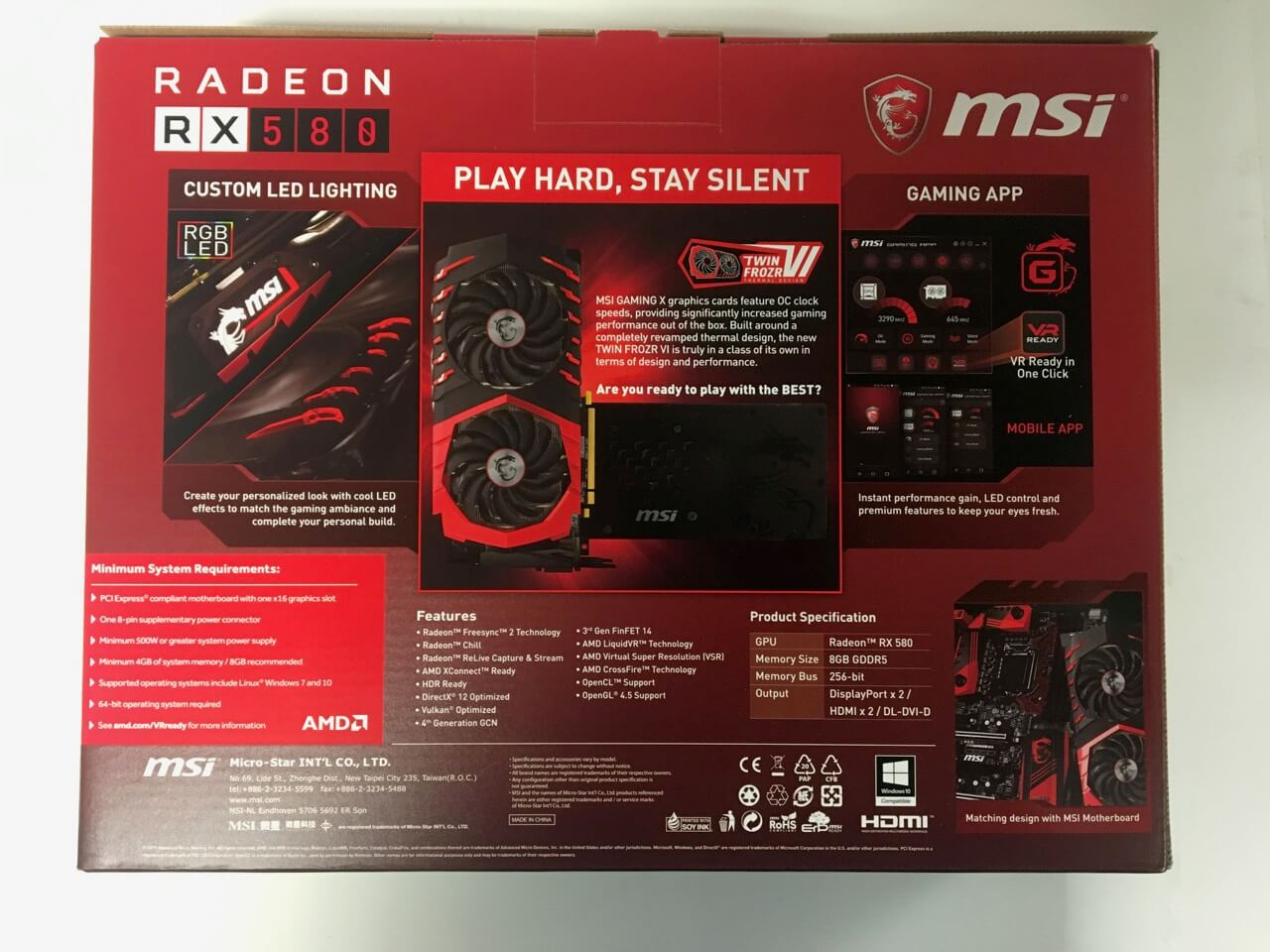 MSI RX580 Gaming X Unboxing