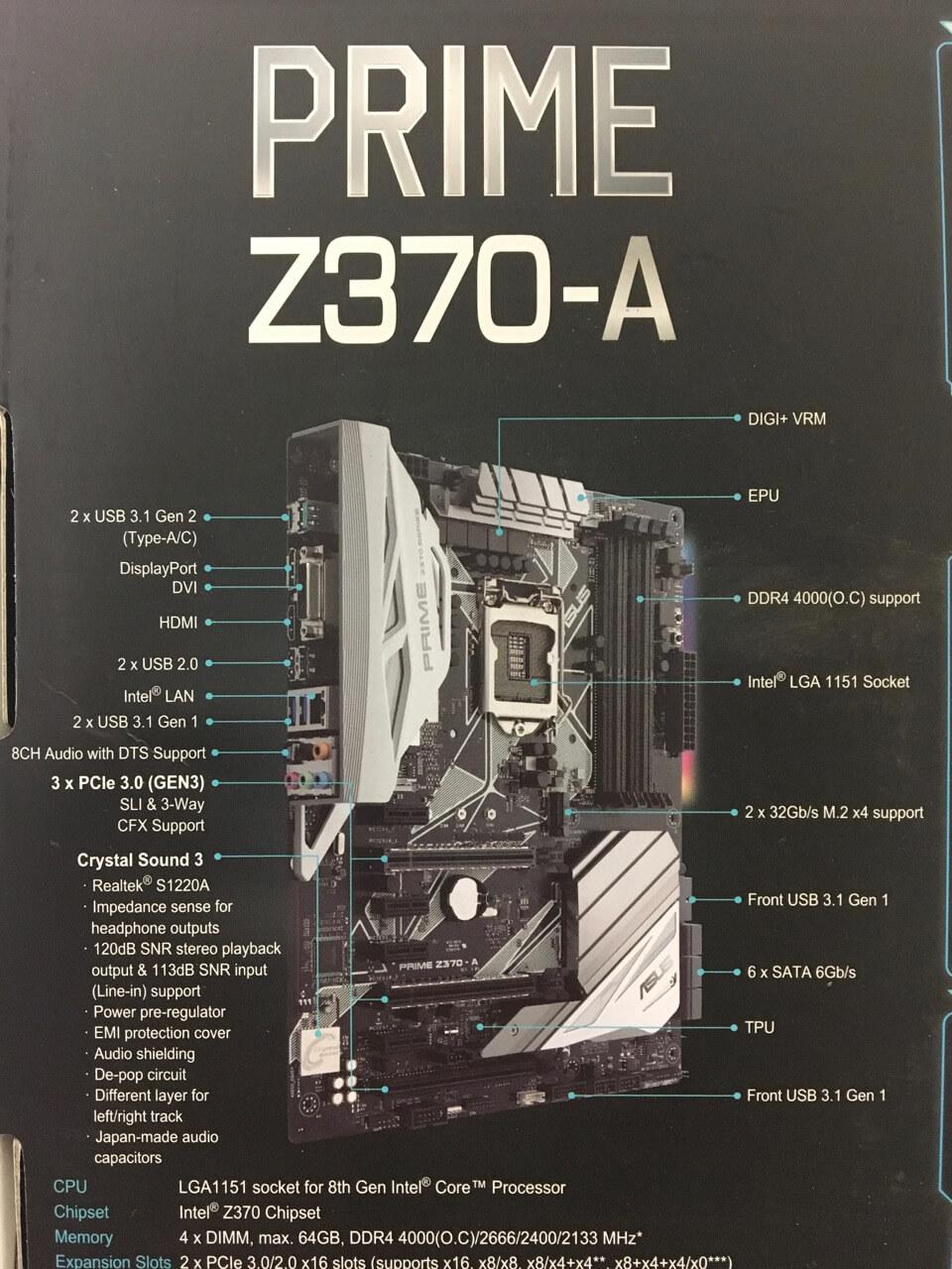 Image  02 Asus Prime Z370 A Diagram Features